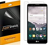 [6-Pack] Supershieldz- Anti-Bubble Clear Screen Protector for LG Stylo 2 -Lifetime Replacements Warranty - Retail Packaging