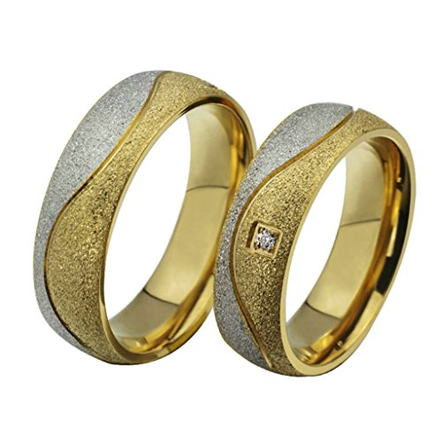 [Aooaz Free Engraving Ring Women 6mm Stainless Steel Ring Gold Plated Couple Rings Wedding Bands Size] (Paper Bag Princess Couples Costume)