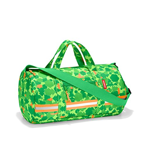 reisenthel Mini Maxi Dufflebag S Kids, Small Foldable Overnight Bag for Sports and Travel, Built-in Carrying Pouch, Greenwood
