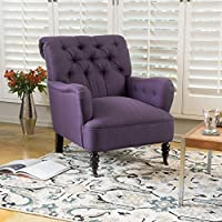 Christopher Knight Home 298303 Randle Arm Chair, Dark Purple