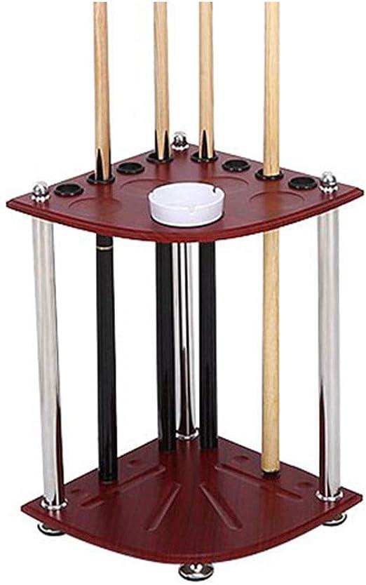 LWXTY Billar Stick Holder, Wood Billiard Rack Pool Cue Rack Floor ...