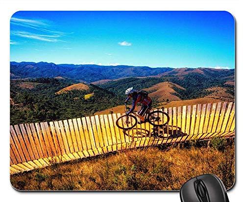 - Mouse Pad - Bike Adventure Adrenaline Sky Hill Mountain