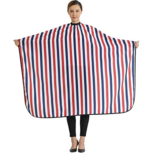 SMARTHAIR Professional Salon Cape Polyester Baber Cape Haircut Apron Hair Cut Cape,54''x62'',Red White & Blue,C006001B by SMARTHAIR