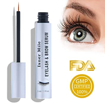 6d3b1c0ccdf Amazon.com: Eyelash Growth Serum and Eyebrow Growth Serum Enhancer Best for  Longer, Fuller and Thicker Lashes Brows Enhancer Serum - 3ml: Beauty