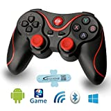 A-szcxtop Android Bluetooth Gamepad wire wireless Rechargeable Game Controller Support for Smart phone,Pad,TV,TV Box with Android Platform 3.2 or Above For Sale