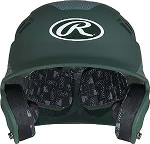 Rawlings Velo Junior Carbon Fiber Finish Batting Helmet, Matte Dark Green