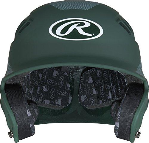 Rawlings Velo Junior Matte/Carbon Fiber Finish Batting Helmet, Matte Dark Green by Rawlings