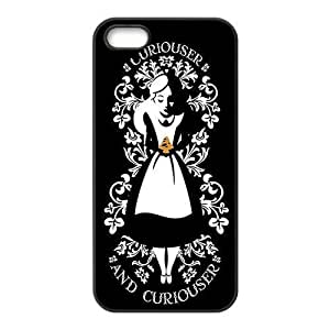 Fashion Style New Alice in Wonderland Painted Pattern Hard Soft For SamSung Note 3 Case Cover (Black/white)
