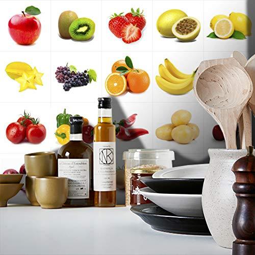 Adesivo Destacável Azulejo Frutas e Verduras