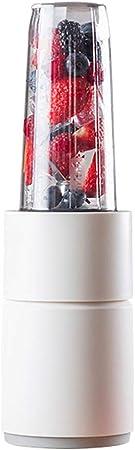 Opinión sobre juicer Licuadora PortáTil De 500 Vatios, Mini Exprimidor EléCtrico Taza ExtraíBle De 450 Ml Cabezal De Corte De Acero Inoxidable De 6 Hojas Botellas Deportivas De Viaje con Tapas 10.8 * 35 Cm