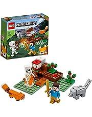 LEGO 21162 Minecraft Het Taiga avontuur Bouwset met Steve, wolf en vos figuren, Speelgoed voor kinderen van 7 jaar en ouder