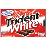 Trident White Gum, Cinnamon Tingle, 12-Piece Packages (Pack of 24)
