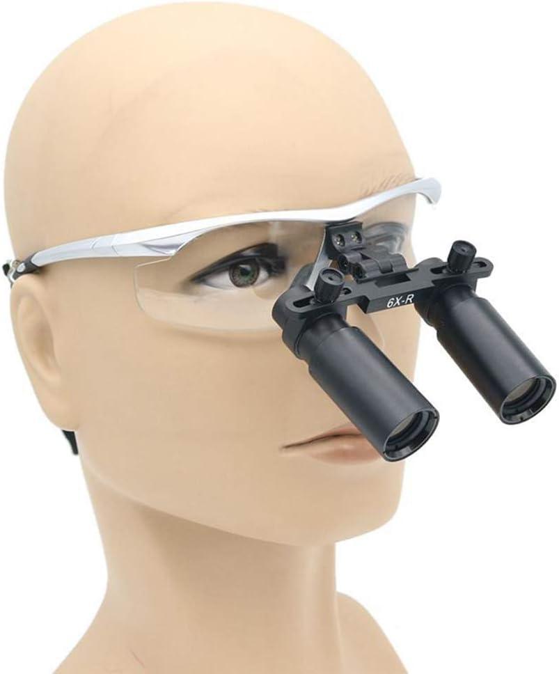 HyaPen 6X Médico Aumento Quirúrgico Binocular Lupas Ajuste Gafas De Protección para Quirúrgico Examen,Vascular Sutura,Odontología,Cavidad Oral,Ortopedía