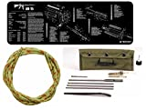 Otis Technology Ripcord Rip Cord for .22Cal .223 Cal/5.56mm 36-Inch 3' Feet Long Bore Barrel Cleaner + Ultimate Arms Gear Complete AR15 AR-15 AR 15 M4 M16 Rifle Armorer Kit Includes: Black Gunsmith Cleaning Work Tool Bench Gun Mat + Deluxe .223 5.56 AR15 M-16 Rifle Cleaning Kit