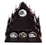 DECOMIL Pyramid Shaped Casino/Poker Chips &Military Challenge Coin Display Stand