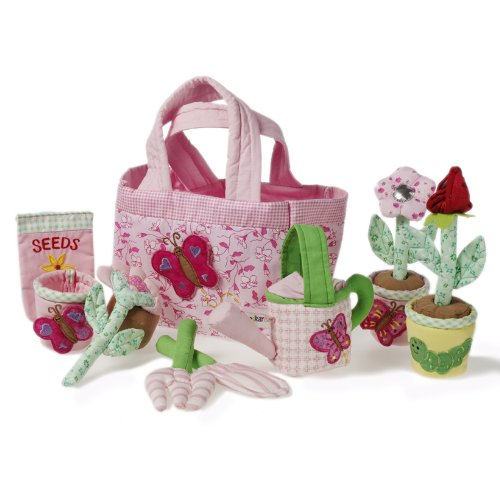 Oskar & Ellen 14 piece Fair Trade Hand Sewn Gardening Playset Toy