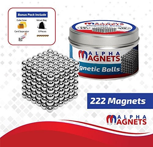 ALPHA MAGNETS Magnetic Fidget toys | Zen stress toys | Stress relief toys | Magnetic stress toys | All accessories provided