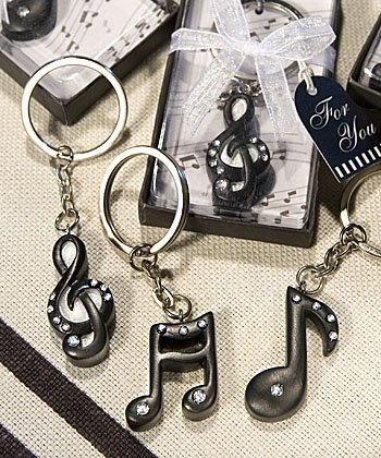 Musical Note Key Chain Favors, 36