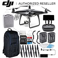 DJI Phantom 4 PRO+ PLUS Obsidian Edition Drone Quadcopter Includes Display (Black) Essentials Pro Backpack Bundle