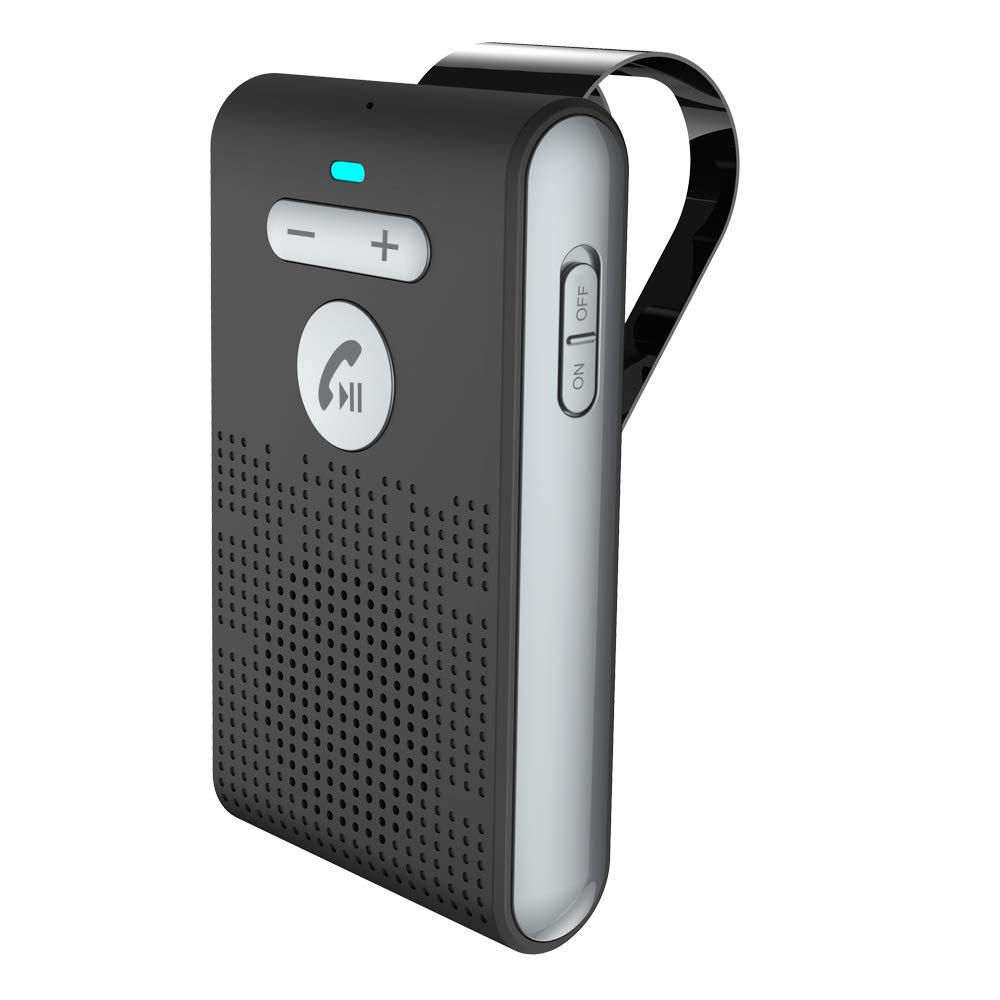 Siparnuo Bluetooth in-Car Speakerphone, Hands-Free Speaker with Visor Clip, Build-in DSP Noise Suppression by SIPARNUO