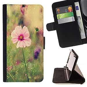 Dragon Case- Mappen-Kasten-Prima caja de la PU billetera de cuero con ranuras para tarjetas, efectivo Compartimiento desmontable y correa para la mu?eca FOR Samsung Galaxy S3 MINI I8190- Rose Pink Flower Romantic Love Heart