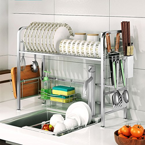 Hyun times Kitchen 304 Stainless Steel Bowl And Chopsticks Drainage Rack Creative Dishware Rack Sink Rack Drain Water Tray Rack by Hyun times Bowl shelf