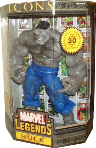 (Marvel Legends Year 2006 ICONS Series 12 Inch Tall Action Figure - Grey HULK with Over 30 Points of Articulation Plus Bonus Special Book