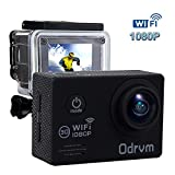 WIFI Action Camera Waterproof 2.0-Inch Diving 30M 170 Degree Wide Angle Underwater Camera With 2PCS Battery for Biking, Racing, Skiing, Motocross And Water Sports