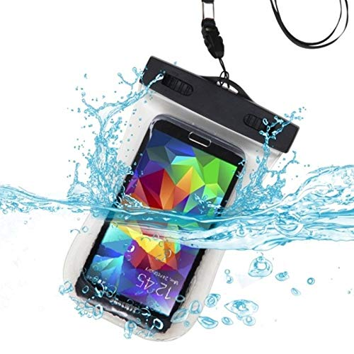 Insten Waterproof Pouch Dry Bag Case Water Proof Cover Sports Armband Compatible with Cell Phone Smartphone Samsung Galaxy S7 S6 1 J3 J7 iPhone 8 7 6 6s SE 5s LG Stylo 3 2 - Clear