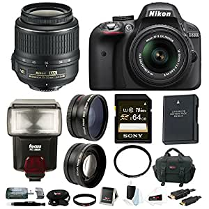 Amazon.com : Nikon D3300 DSLR with AF-S DX NIKKOR 18-55mm VR II Zoom