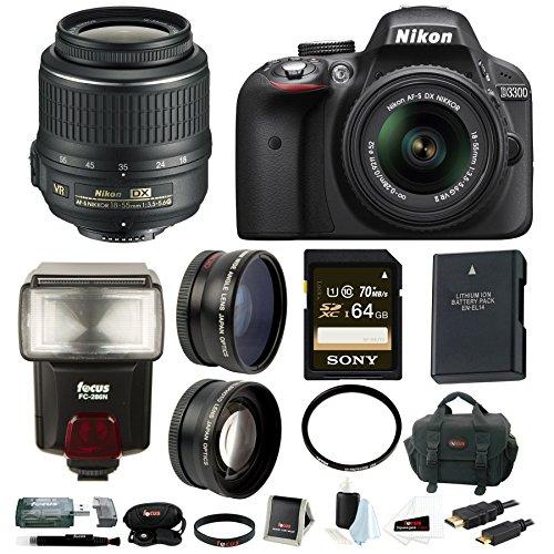 Nikon D3300 NIKKOR 18 55mm Black product image