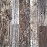 Blooming Wall Barnwood Wood Panel Wood Plank Wallpaper Wall Mural for Livingroom Kitchen Bathroom Bedroom,20.8' x 374', Multicolor