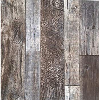 Akea Reclaimed Wood Wallpaper Roll Vintage Faux Wood