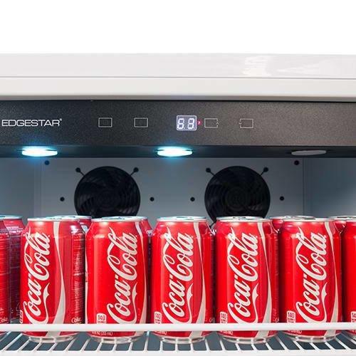 EdgeStar VBR640 14 Cu. Ft. Built-In Commercial Beverage Merchandiser - White and Stainless Steel