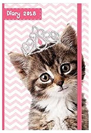 2018 chunky a6 diary day per page to view puppies kittens christmas
