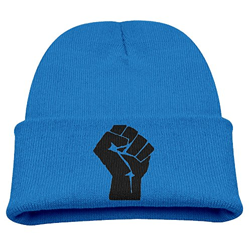 SHEAKA Black Power Baby's Knitted SkatingCap Hat RoyalBlue For Autumn And Winter (Mustache Pantyhose)