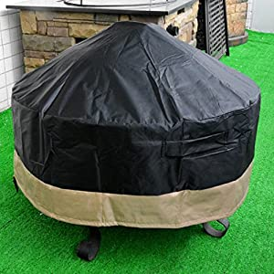 Stanbroil Full Coverage Round Fire Pit Cover/Table, Black, 40-Inch