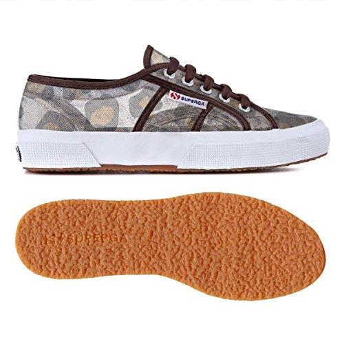 Superga 2750-Animalnetw - Zapatillas para mujer Leopard Silver