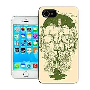 Unique Phone Case Illustration art skull cliff stairs plants nature illustration design photohsop digital art Hard Cover for iPhone 4/4s cases-buythecase