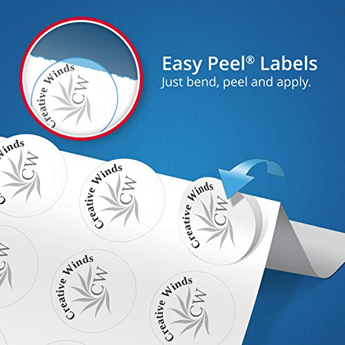 "Easy Peel Address Rectangle Labels for Laser Printers, 1"" x 2-5/8"", Box of 3,450 Labels (5160 Template) Photo #7"