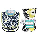 Trend-Lab Kids Bouquet Set - Waverly Rise And Shine - Bib And Burp Cloth 71234