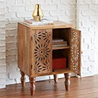 Brylanehome Two-Door Cutout Chest (Natural,0)