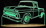 1965 Chevy Pickup Truck C10 Awesome 21'' Acrylic Lighted Edge Lit LED Sign Light Up Plaque 65 VVD1 Full Size USA Original