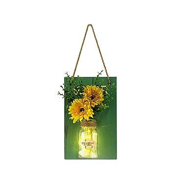 Amazon.com: ZAVAREA - Tarro decorativo con flores ...