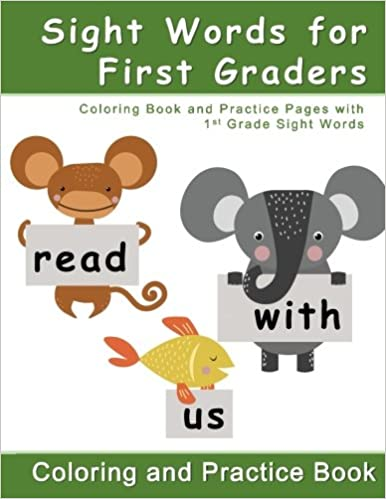 Amazon Com Sight Words For First Graders Coloring Book And