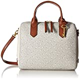 Fossil Fiona Satchel Handbag, Grey/White,One Size