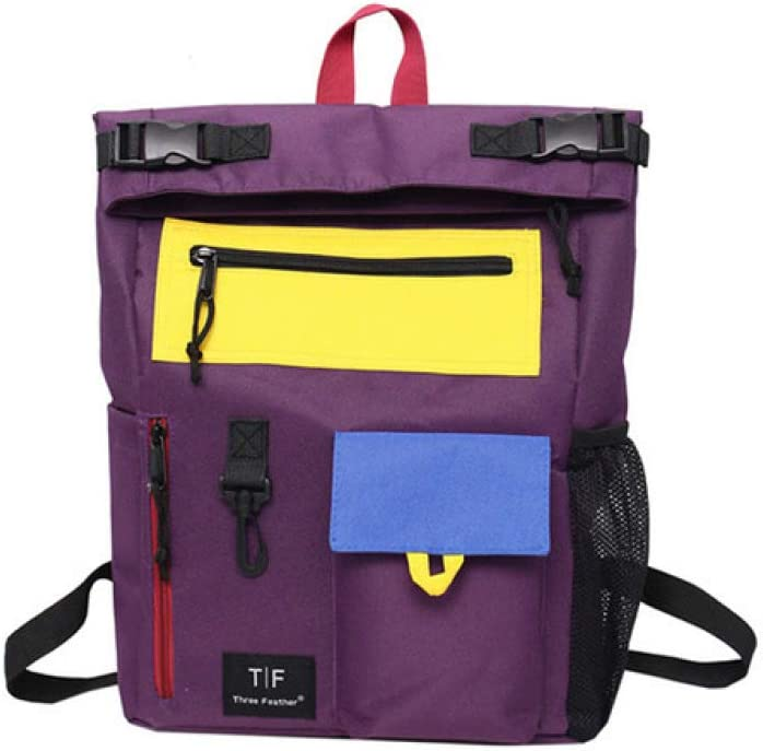 VICTOE Mochila estilo fresco Oxford para mujer, adecuada para los jóvenes, bolsa de viaje de moda, mochila de campus, Purple (Morado) - VICTOE-9480