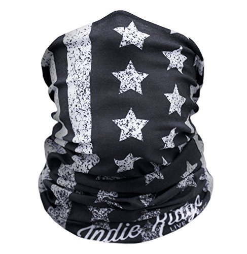 Price comparison product image American Flag Outdoor Face Mask By IndieRidge - Microfiber Polyester Multifunctional Seamless Headwear for Motorcycle Hiking Cycling Ski Snowboard
