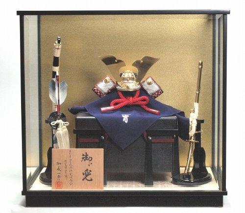 兜飾り 一冑作 四分の一 小桜革兜飾りケースセット 五月人形 加藤一胄 B00HV7WI6E