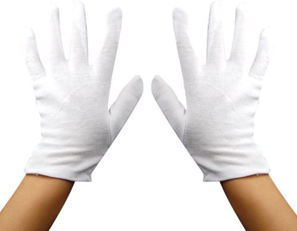 Guantes de algodón talla única color blanco para múltiples usos ...